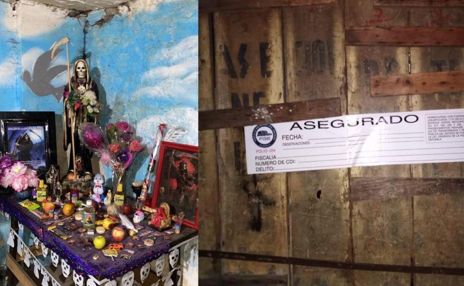 Además de un altar de la Santa Muerte, hallan en la Maldita Vecindad narcotúneles como los del Chapo (FOTOS)