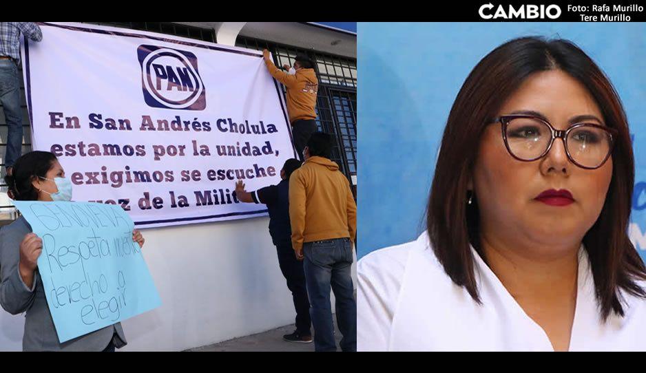 Panistas de Cholula revientan contra Genoveva; quiere imponer candidatos