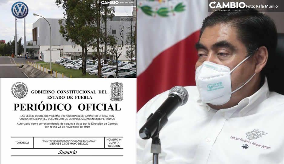 Ni VW ni sector automotriz ni construcción: Barbosa publica decreto que prohíbe regreso