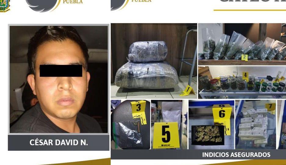 Cae César David con  19 kilos de marihuana en la Avenida Juárez