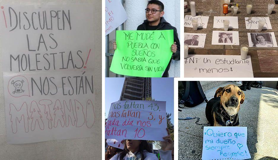 Estas son las frases con las que alumnos BUAP exigieron justicia por sus compañeros ejecutados