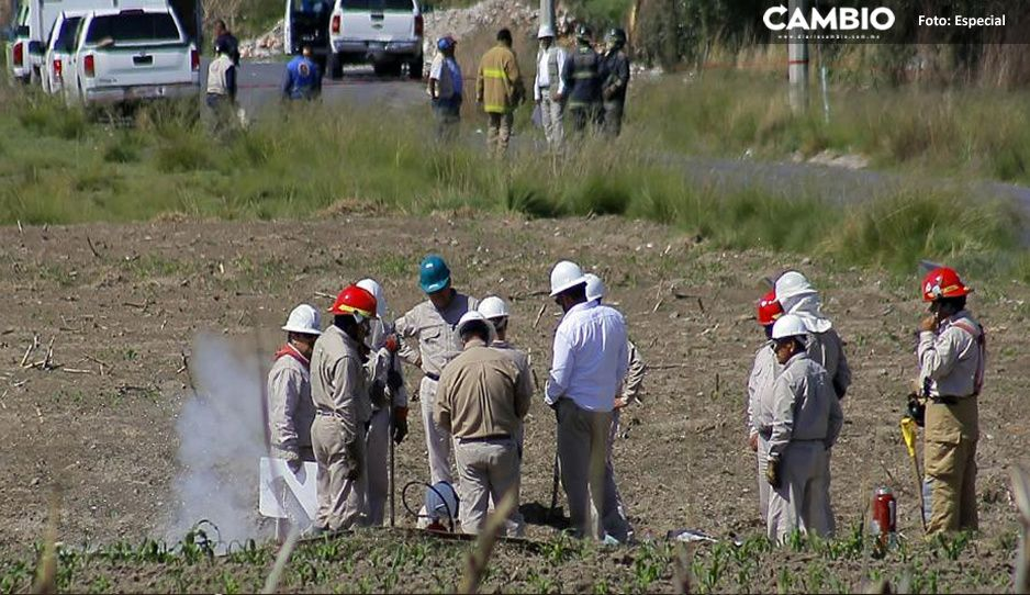 Localizan dos tomas clandestina en zona de cultivos de Huejotzingo