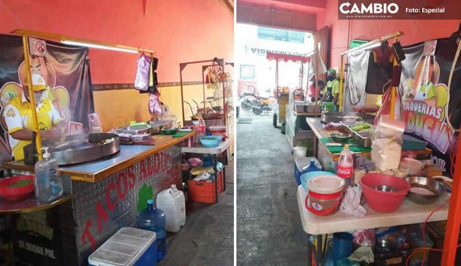 Ambulantes de Serdán rentan patios de casonas para poder vender