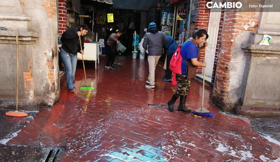 Mercado de Texmelucan reducirá horario por limpieza y fumigación ante pandemia