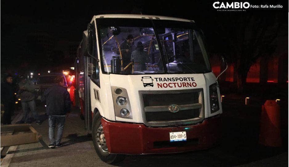 Suspenden servicio de transporte público nocturno en Puebla por Coronavirus