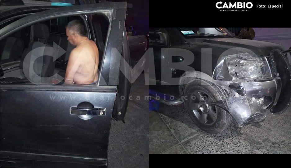 Director de mercados de Acatzingo choca en estado de ebriedad, sale libre de cargos
