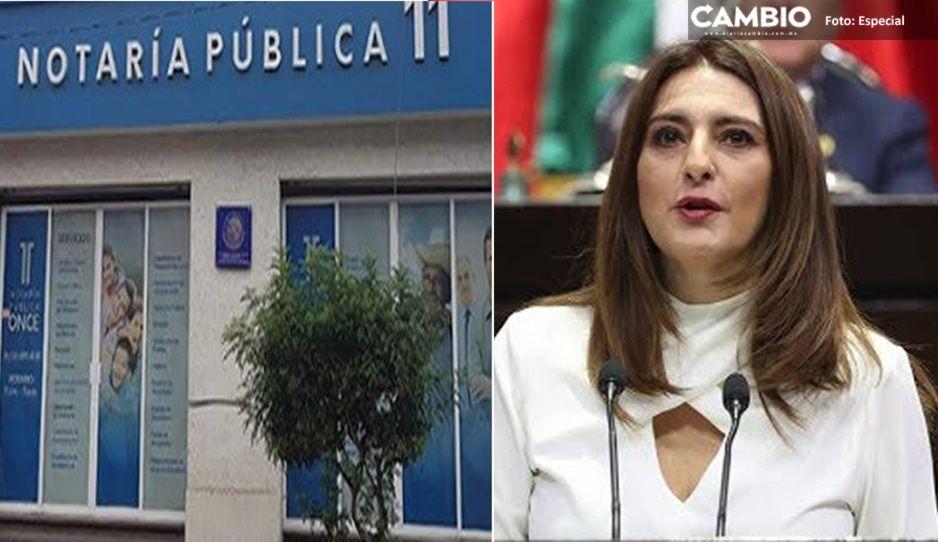 Retiran sellos de la Notaría 11 de Tehuacán, tras detención de la prestanombres de Maiella Gómez
