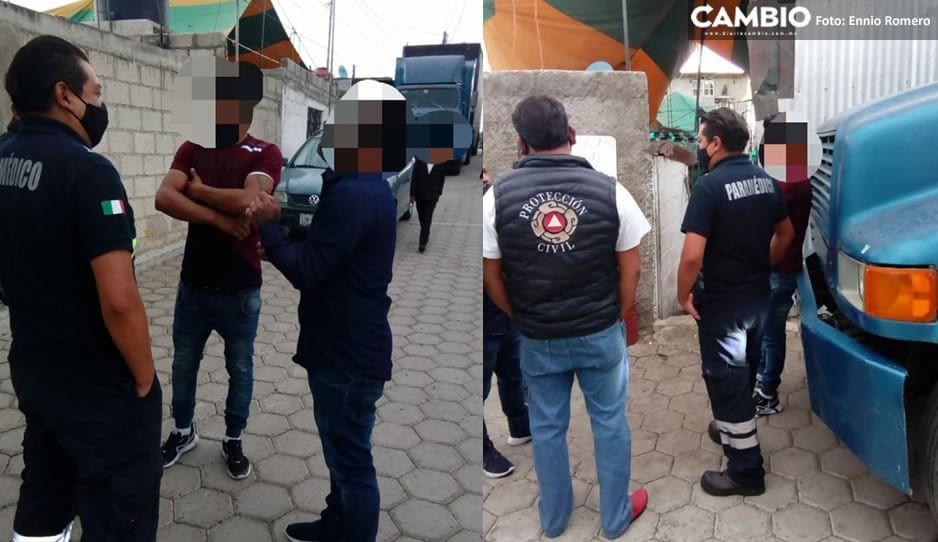 Policías intentar frenar fiesta en Serdán y covidiotas se ponen rejegos