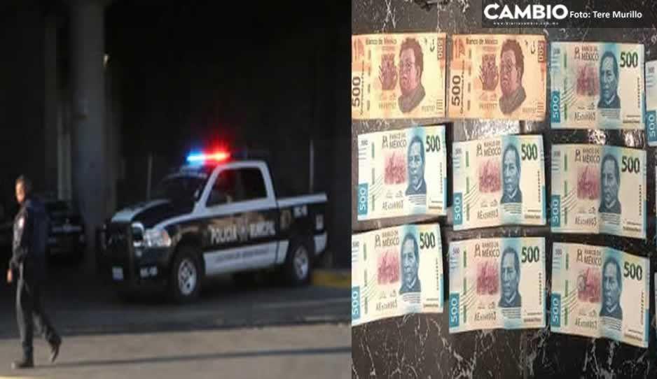 Capturan a tres narcomenudistas en auto con reporte de robo en Huejotzingo