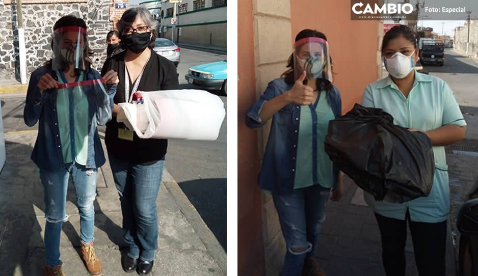 De poblano a poblano: activista dona 100 caretas para personal médico de Atlixco