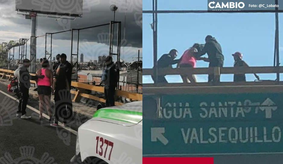 Desempleo y falta de dinero llevaron a mujer a intentar suicidarse en puente del Periférico
