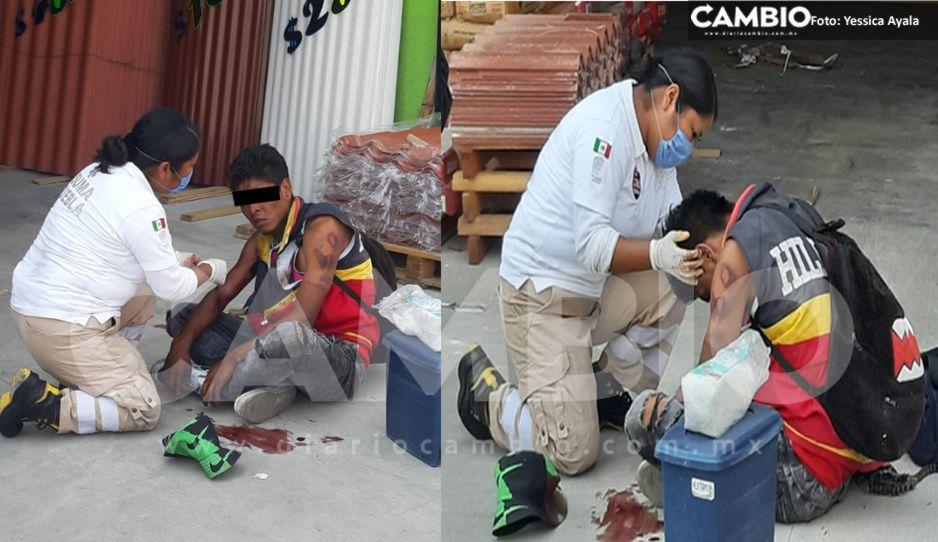 Justicieros dejan como Santo Cristo a rata tras asaltar a  un joven en Atlixco