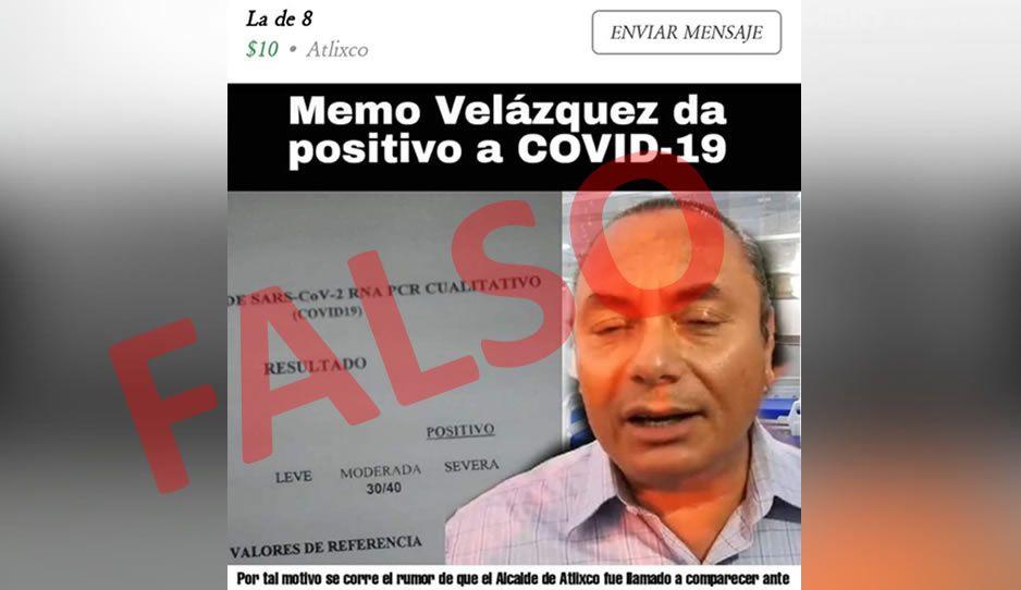Falso que el alcalde de Atlixco tenga coronavirus: Ayuntamiento desmiente contagio