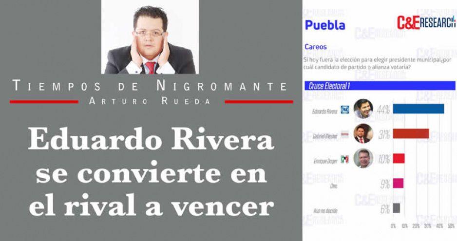 Eduardo Rivera se convierte en el rival a vencer