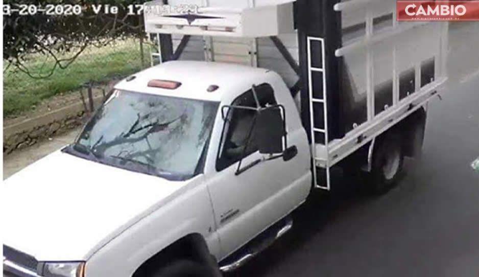 Comando armado de 30 sujetos roba camioneta en la Puebla-Orizaba