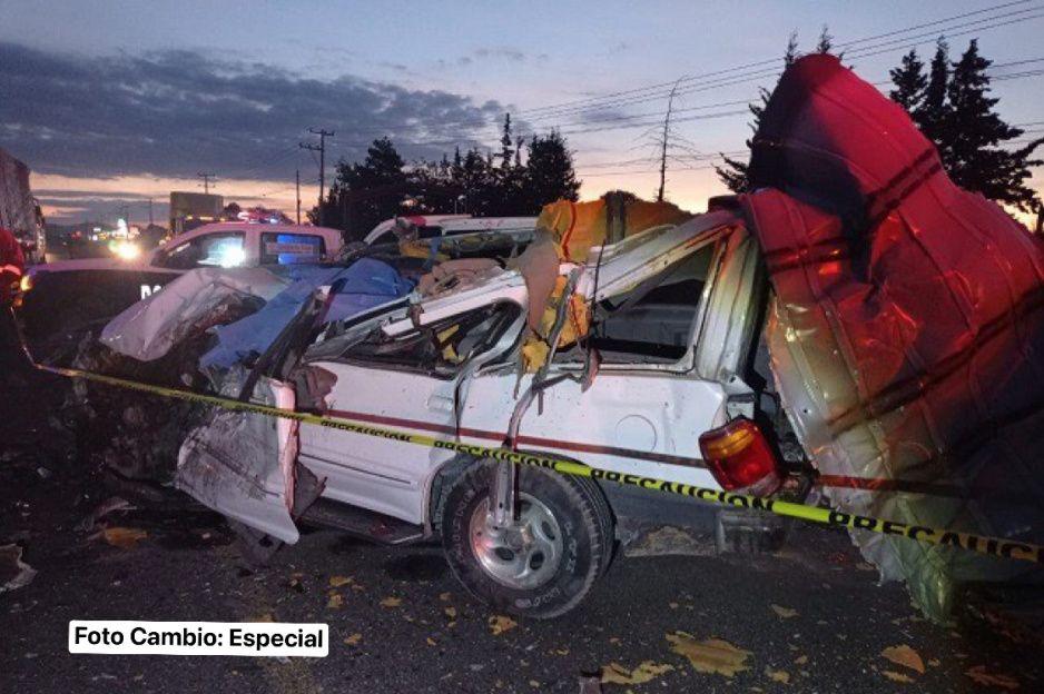 Mortal accidente en Amozoc: fallecen tres tras choque entre Ruta 100 y camioneta (VIDEO)