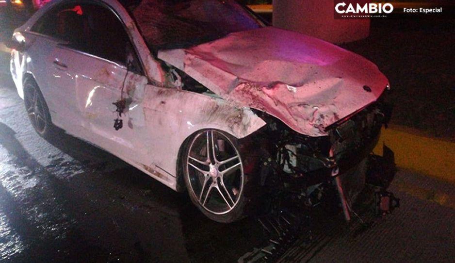 Briago del Mercedes era todo un cafre: además de matar a joven frente al Adamant tiene 28 fotomultas