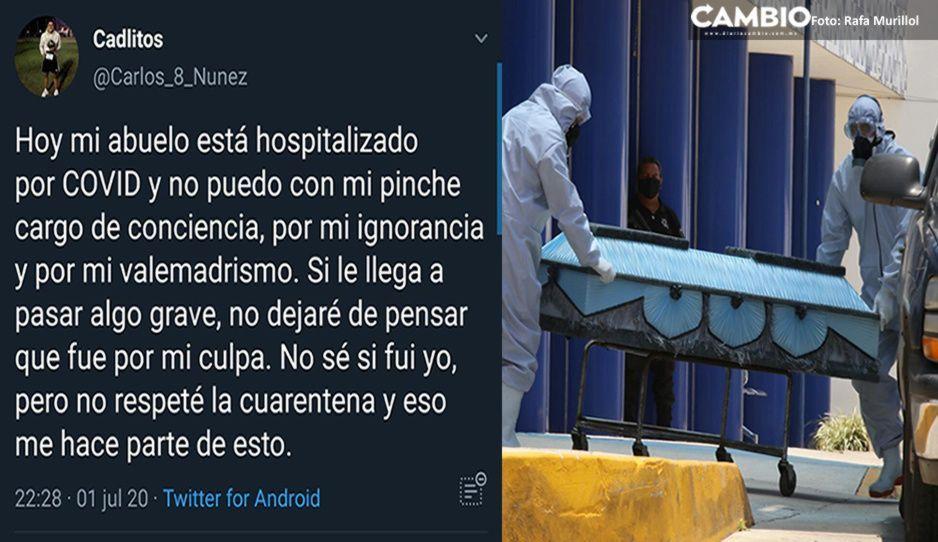 Abuelito  muere por COVID: Su nieto rompió la cuarentena y lo contagió
