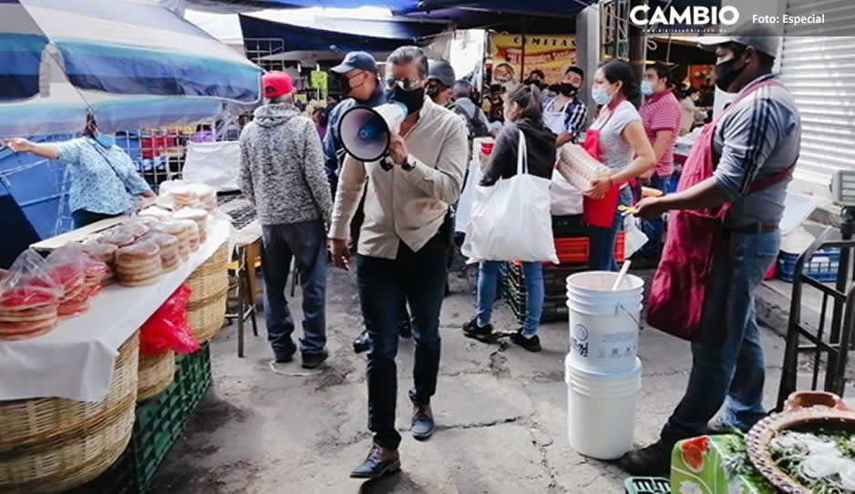 Suspende tianguis de Atlixco actividades comerciales hasta adoptar medidas de prevención de contagio