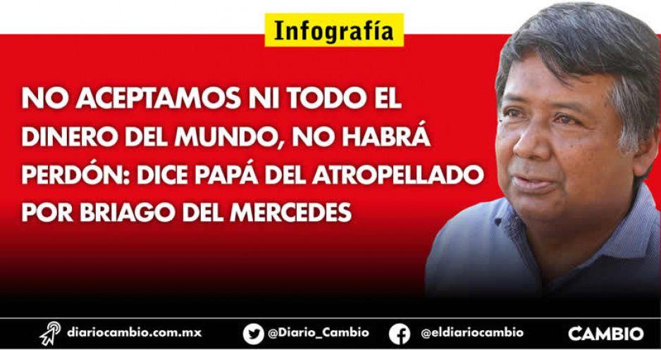 No aceptamos ni todo el dinero del mundo, no habrá perdón: dice papá del atropellado por briago del Mercedes (FOTOS Y VIDEO)