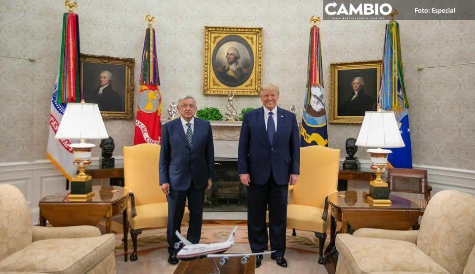 AMLO conquista la Casa Blanca  durante visita a Donald Trump