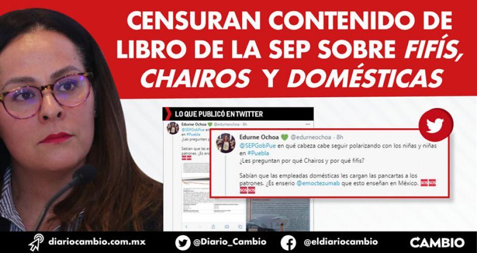 Censuran contenido de libro de la SEP sobre fifís, chairos y domésticas