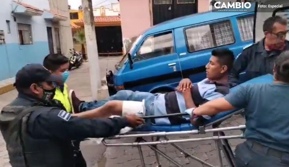 Sigue el terror en Atlixco; balean a dos jóvenes mientras caminaban, uno resultó herido