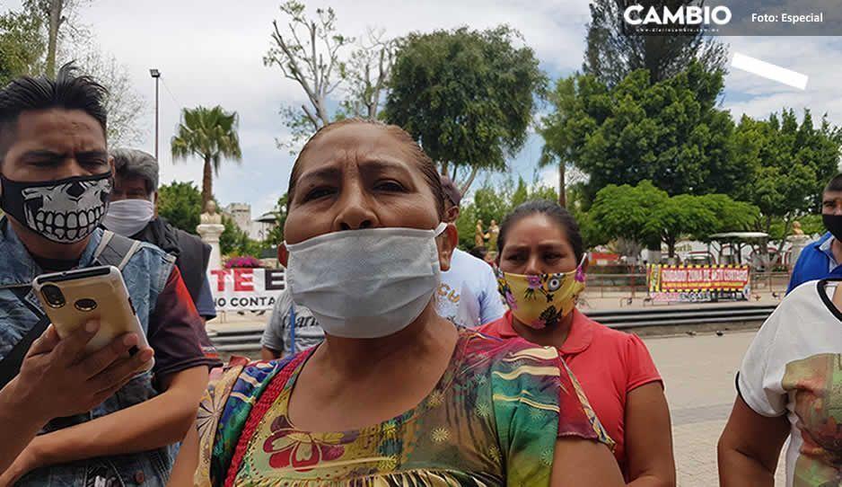 Ambulantes del centro de Tehuacán piden volver a sus lugares ¡Ya no soportan la cuarentena!