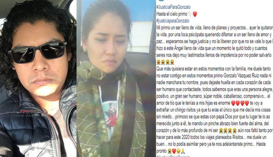 Una loca psicópata le quitó la vida: prima de Gonzalo se despide en triste carta ante asesinato en motel de Acateje