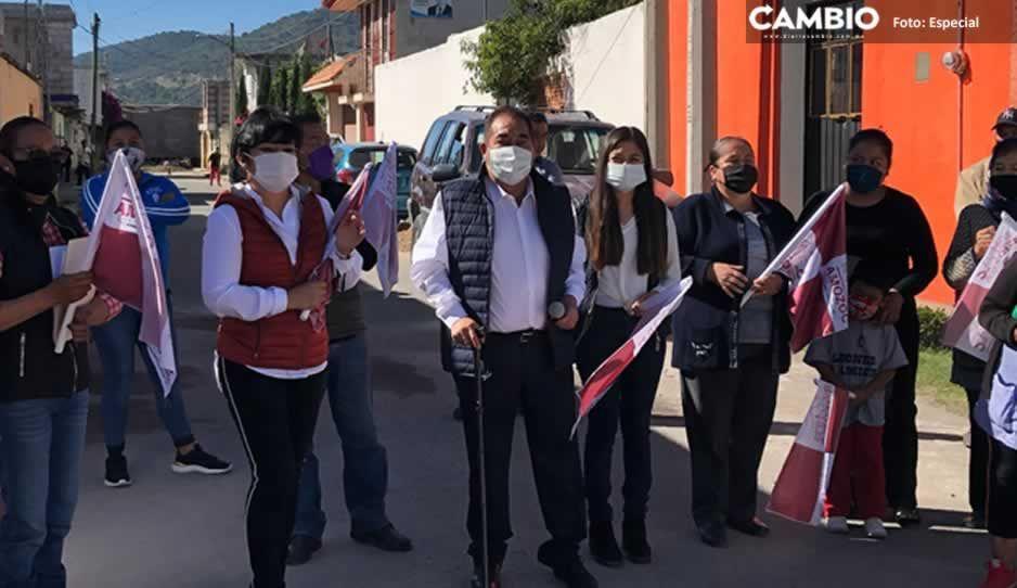 Inicia Mario de la Rosa obras de drenaje en las colonias Santiago y San Miguel de Amozoc