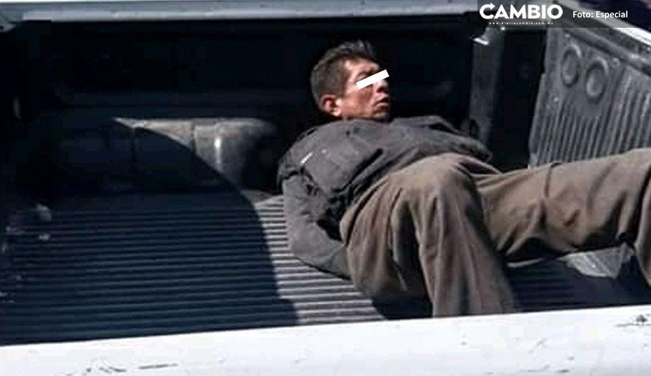 Vecinos de Tetela capturan y someten a delincuente que atracó a vendedor de Bimbo