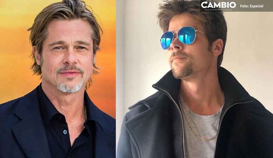 Albañil aprovecha su parecido con Brad Pitt para convertirse en influencer (FOTOS)