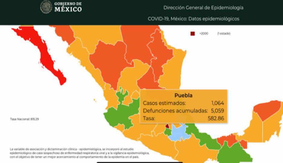 Domingo 22: Mueren 9 por el bicho en Puebla según la Federación