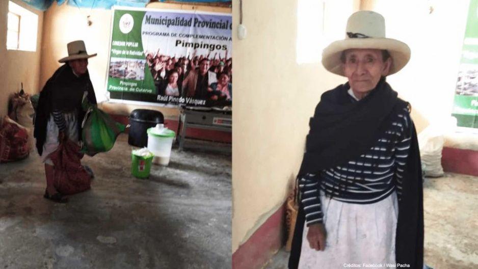Abuelita peruana ayuda más que los polítcos: dona sus cosechas para los afectados por la pandemia