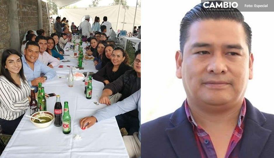 Síndico municipal de San Andrés arma tremendo pachangón en plena contingencia (FOTOS)