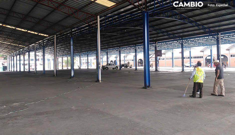 Sin miedo al covid; mercado 5 de Mayo de Huauchinango reanuda actividades tras doblegar a Gustavo Vargas