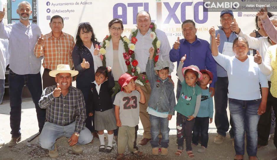 Invierte Guillermo Velázquez 1.7 millones de  pesos en obras en zona poniente de Atlixco
