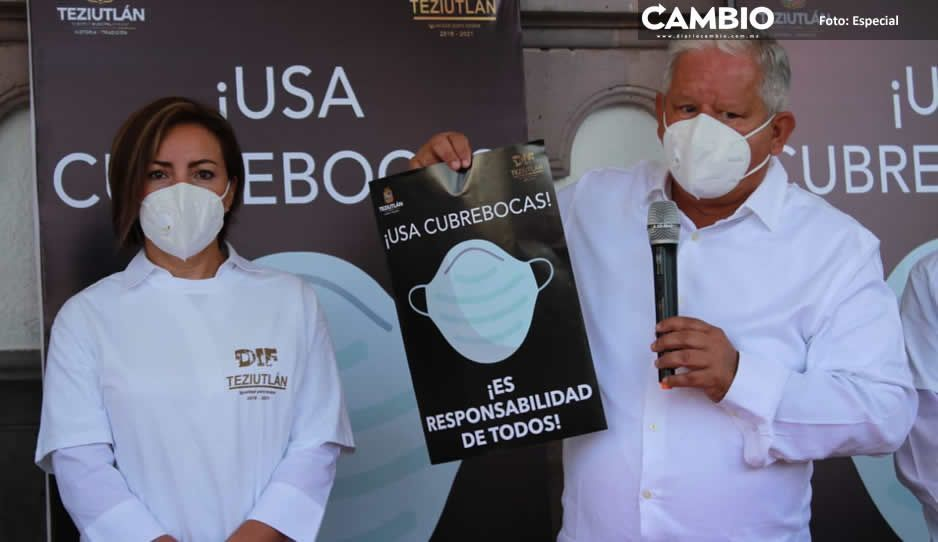 Sistema DIF de Teziutlán prevé repartir  hasta 10 mil cubrebocas en el municipio