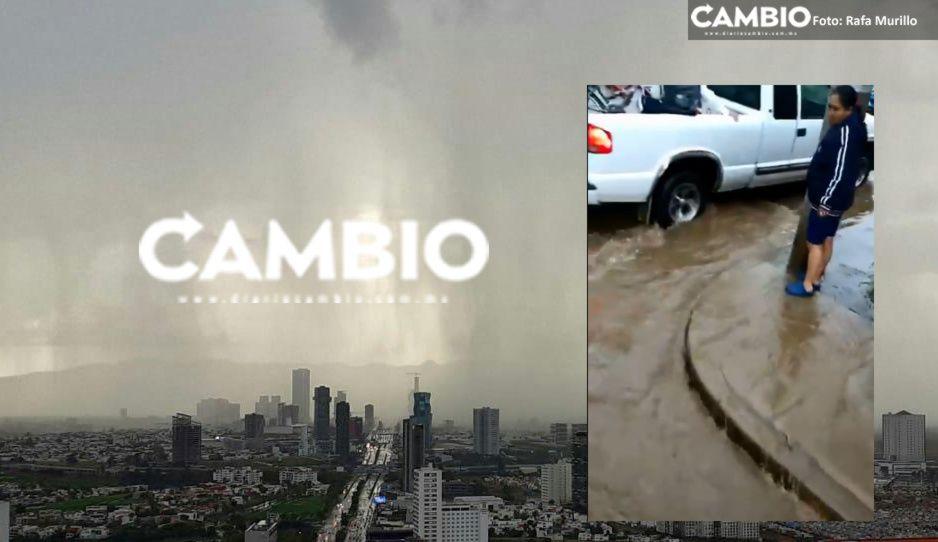 Lluvia e inundaciones no paran, calles de Puebla y Cholula se convierten en ríos (FOTOS y VIDEO)