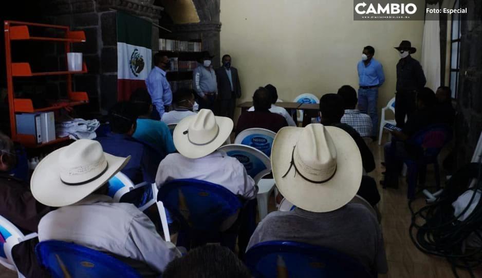 Edil de Tochimilco buscan recuperar mil 600 hectáreas de territorio con Morelos