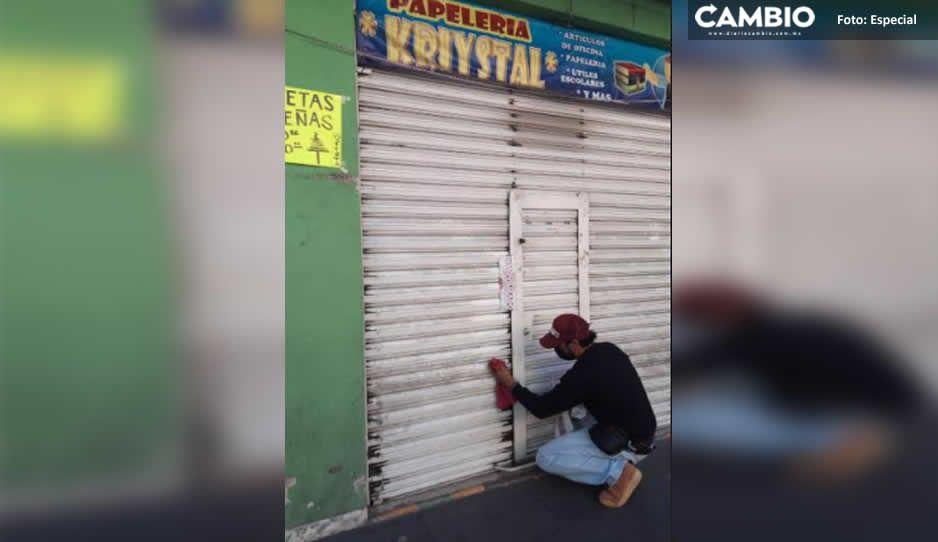 Por desobedientes, les clausuran negocios no esenciales en Texmelucan