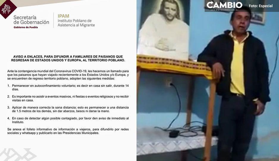 Acólitos de Tecali de Herrera NO creen en el coronavirus y organizan fiesta patronal (VIDEO)