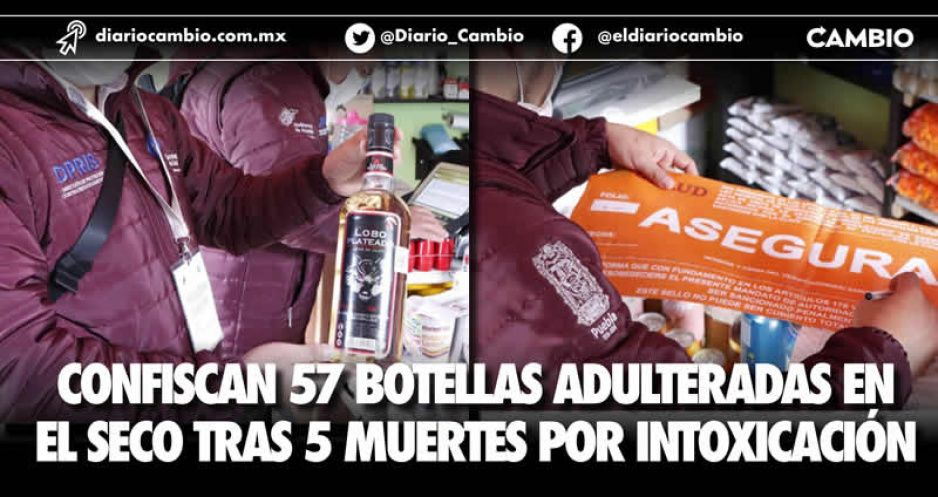 Confiscan 57 botellas adulteradas en El Seco tras 5 muertes por intoxicación
