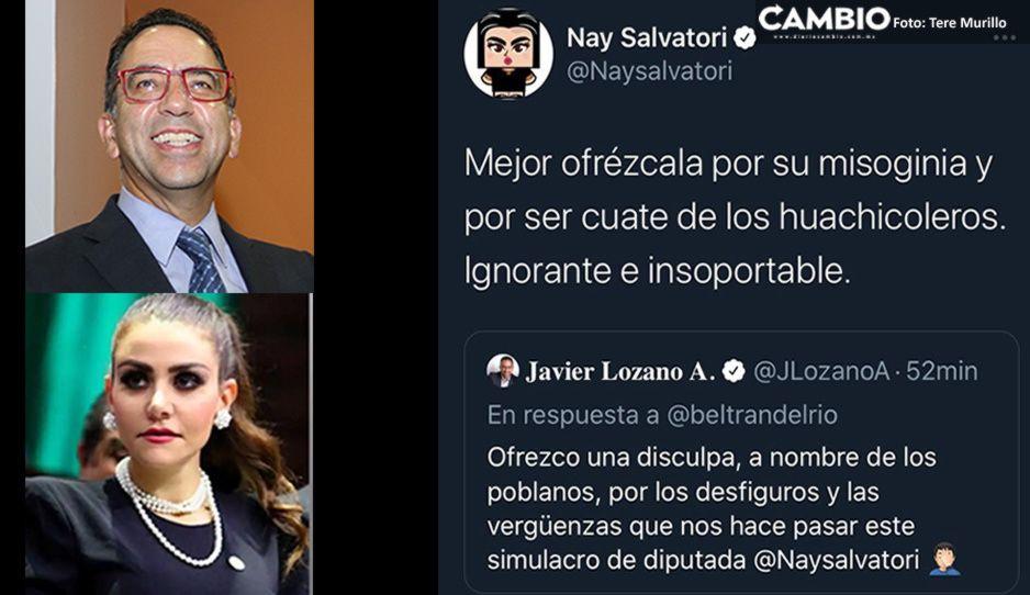 Las joyas de Puebla: Nay y Lozano se arañan en Twitter