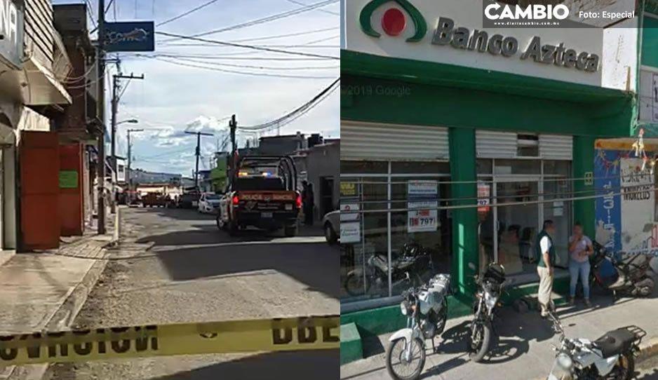 Asesinan en violento asalto a trabajador de Banco Azteca en Atencingo