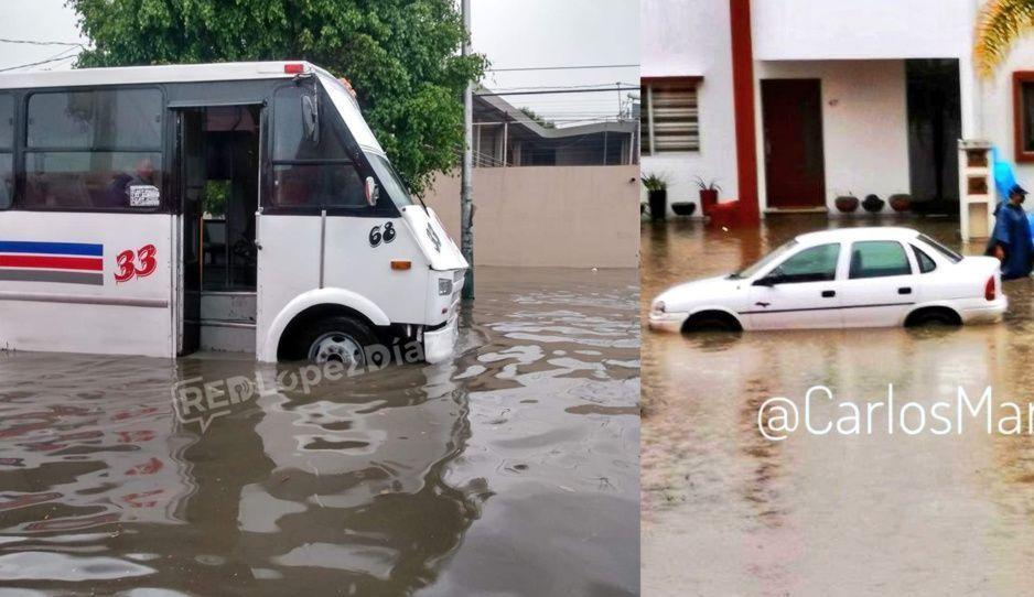 ¡Se inunda Puebla! Autos y camiones se convierten en góndolas por toda la ciudad (FOTOS y VIDEO)