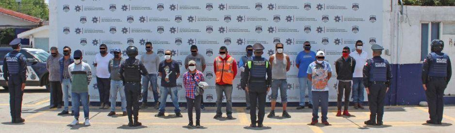 Detienen a bandota que extorsionaba a choferes de Puebla