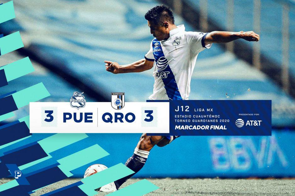 Puebla no puede contra el Querétaro en el Cuauhtémoc