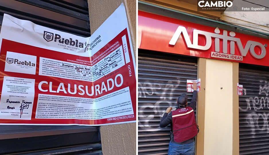 Claudia continúa los operativos contra establecimientos del Centro Histórico, clausuran tres más