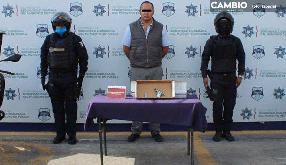 Cae hombre por portación de arma ilegal en Guadalupe Hidalgo